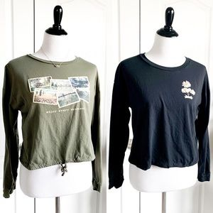 Bundle of 2 Crop Graphic Tops